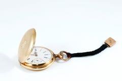 Reloj de oro viejo Foto de archivo libre de regalías