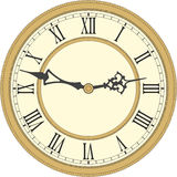 Reloj de pared antiguo Fotografía de archivo libre de regalías