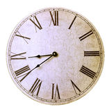Reloj de pared antiguo viejo Fotos de archivo libres de regalías