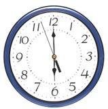 Reloj de pared azul imagenes de archivo