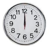Reloj de pared blanco Imagenes de archivo