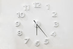 Reloj de pared blanco Foto de archivo