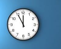 Reloj de pared clásico en la pared Fotografía de archivo