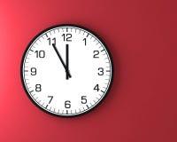 Reloj de pared clásico en la pared Imagen de archivo