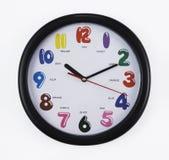 Reloj de pared con el camino de recortes Imagen de archivo libre de regalías