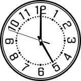 Reloj de pared con el dial árabe Imágenes de archivo libres de regalías