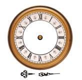 Reloj de pared de la vendimia aislado en blanco Fotografía de archivo libre de regalías