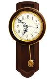 Reloj de pared de madera Fotografía de archivo