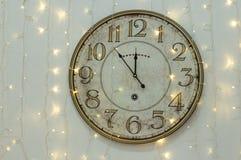 Reloj de pared del tiempo Imagen de archivo