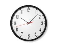Reloj de pared del vector Foto de archivo