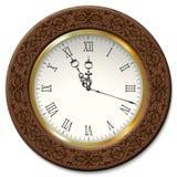 Reloj de pared del vintage del vector Imagen de archivo