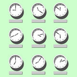 Reloj de pared Ejemplo del vector en el tema del tiempo libre illustration