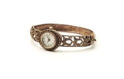 Reloj de plata Imagen de archivo libre de regalías