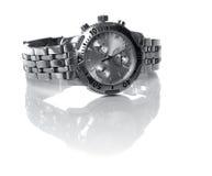 Reloj de plata usado Imágenes de archivo libres de regalías