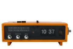 Reloj de radio anaranjado de la vendimia Imagen de archivo libre de regalías