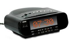 Reloj de radio de la alarma de Digitaces imagen de archivo libre de regalías