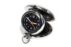 Reloj de recorrido de plata imagenes de archivo