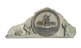 Reloj de reloj de piedra Fotografía de archivo
