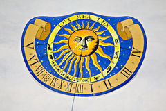 Reloj de sol Imagen de archivo libre de regalías