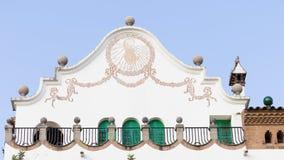 Reloj de sol con un gallo, España Fotografía de archivo libre de regalías