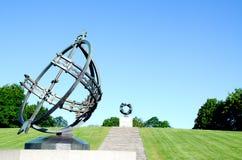 Reloj de sol en el parque Oslo Noruega de Frogner Imagen de archivo libre de regalías