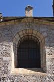 Reloj de sol en la iglesia colegial de Santa Maria Fotografía de archivo libre de regalías
