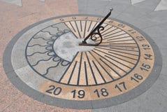 Reloj de sol en Sevastopol, República de Crimea Foto de archivo libre de regalías