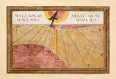 Reloj de sol religioso Imagen de archivo libre de regalías