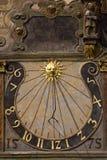 Reloj de sol viejo Foto de archivo libre de regalías