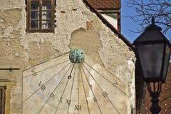 Reloj de Sun en Zagreb fotografía de archivo libre de regalías