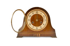 Reloj de tabla de la antigüedad Fotografía de archivo