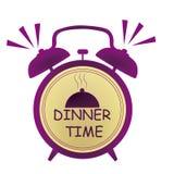 Reloj de tiempo de cena Fotos de archivo