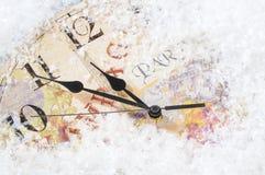 Reloj de tiempo de la Navidad Fotografía de archivo libre de regalías