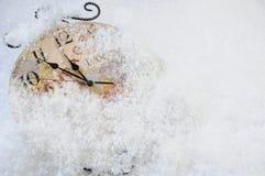 Reloj de tiempo de la Navidad Imagen de archivo libre de regalías