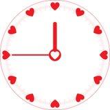 Reloj de tiempo del amor Imagen de archivo