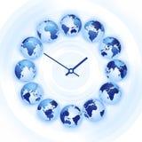 Reloj de tiempo del mundo Imágenes de archivo libres de regalías