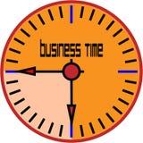 Reloj de tiempo del negocio Imagen de archivo