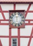 Reloj de torrecilla en Forchtenberg Imagenes de archivo