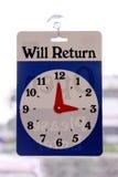 Reloj de vuelta Imagenes de archivo