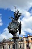 Reloj decorativo en Kazán Imagen de archivo