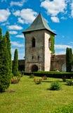 Reloj defensivo de la torre del monasterio Fotos de archivo libres de regalías