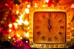 Reloj del Año Nuevo fotografía de archivo