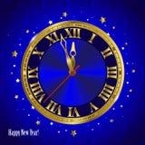 Reloj del Año Nuevo Fotos de archivo