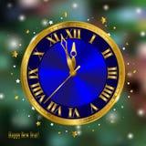 Reloj del Año Nuevo Imagen de archivo libre de regalías