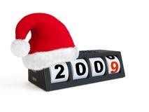 Reloj del Año Nuevo y de la Navidad Fotos de archivo libres de regalías