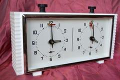 Reloj del ajedrez Imagen de archivo libre de regalías