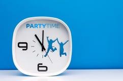 Reloj del blanco del concepto del tiempo Imagen de archivo