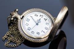 Reloj del bolsillo del vintage Foto de archivo