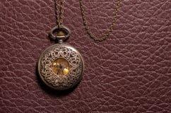 Reloj del bolsillo del vintage Fotografía de archivo