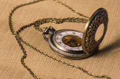 Reloj del bolsillo del vintage Fotos de archivo libres de regalías